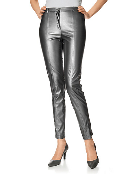 Patrizia Dini - Pantalon en aspect peau