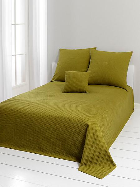 helline home - Couvre lit élégant en coton gaufré, style classique
