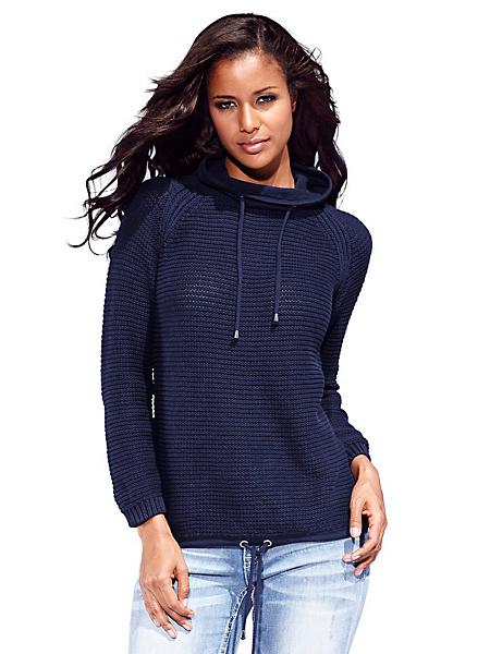B.C. Best Connections - Pull en tricot à col ample, base resserrable