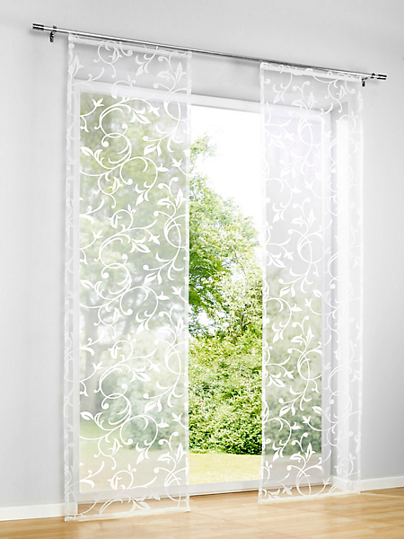 helline home - Panneau coulissant transparent à motif floral raffiné