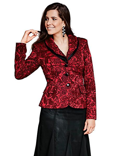 Ashley Brooke - Veste luxeuse avec col à revers et motifs floraux