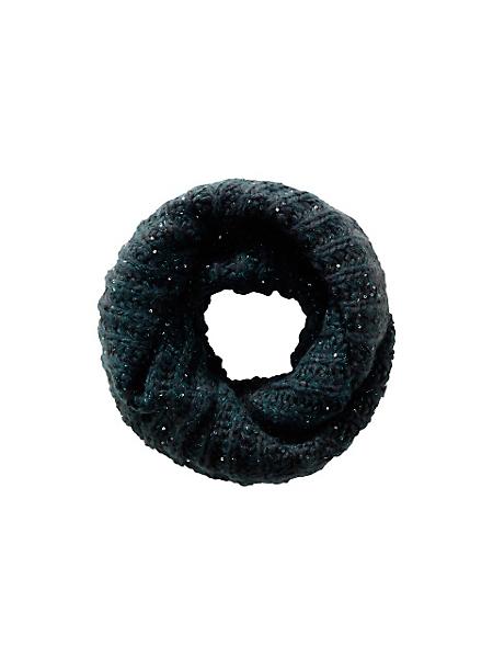 helline - Echarpe tube en grosse maille tendance et paillettes