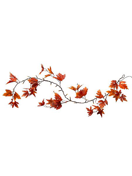 helline home - Guirlande décorative à LED en feuilles d'automne