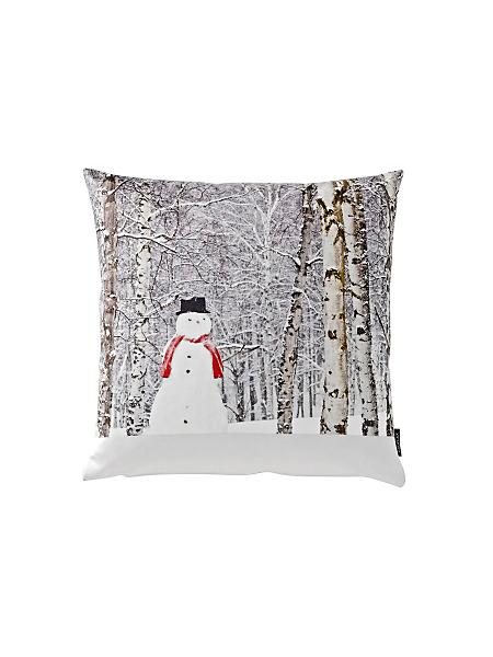 Proflax - Housse de coussin `bonhomme de neige`