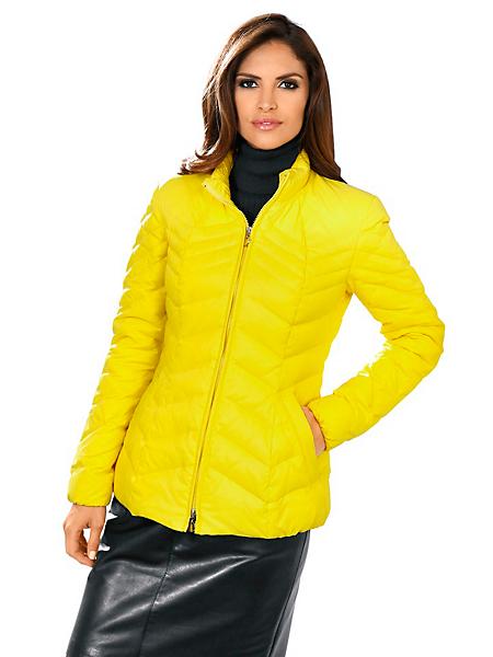 Ashley Brooke - Doudoune femme courte et ajustée, couleur jaune