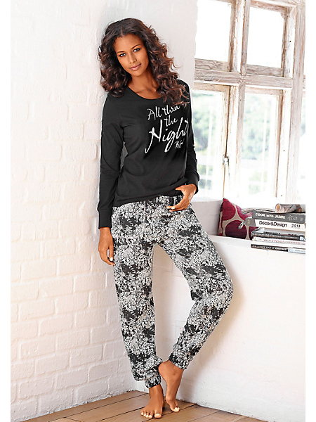 Buffalo - Pyjama Buffalo, pantalon à motif, avec poches en biais