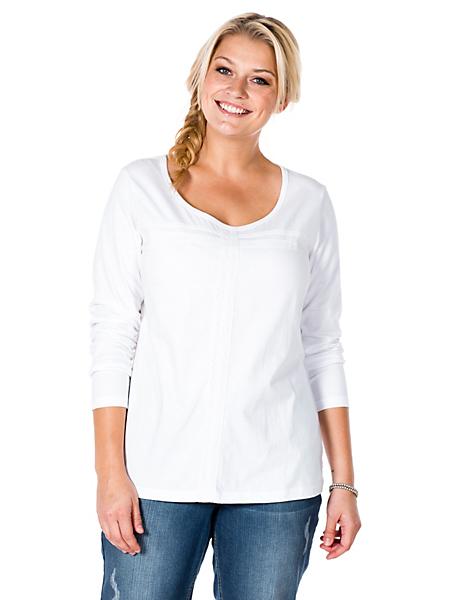 Sheego Casual - T-shirt féminin à manches longues Sheego Casual
