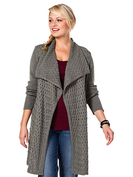 Sheego Casual - sheego Casual : Veste en tricot très mode