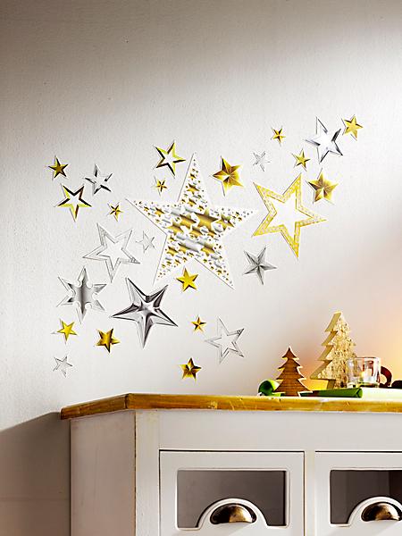 helline home - Lot de stickers étoiles (41 pièces)