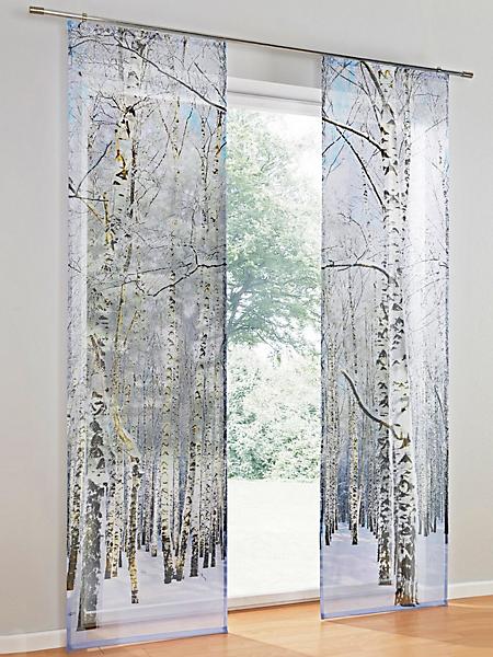 helline home - Panneau coulissant semi-transparent à motif végétal