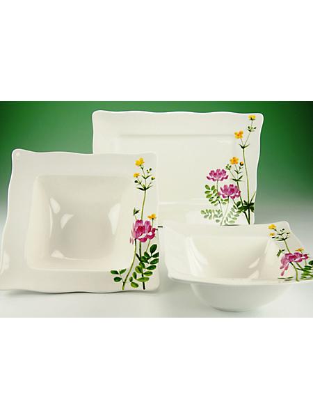 CREATABLE - Lot de service en porcelaine CreaTable »Eva fleurs des champs« (3 pièces)