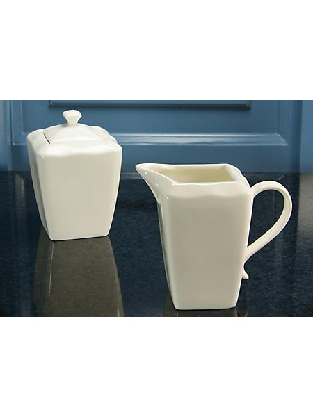 CREATABLE - Crémier et sucrier en porcelaine, »EVA« (2 pièces)