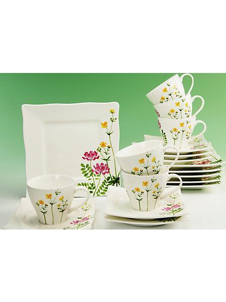 CREATABLE - Service à café en porcelaine, »Eva fleurs des champs« (18 pièces)
