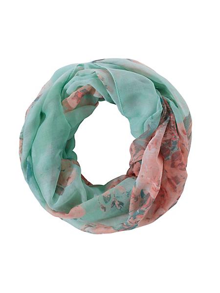 helline - Foulard tube tendance et élégant, imprimé floral coloré