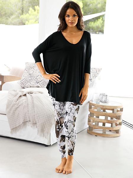helline - T-shirt long et ample à manches chauve-souris