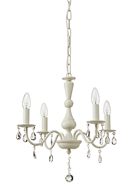 helline home - Lustre à 4 branches design et pampilles en cristal