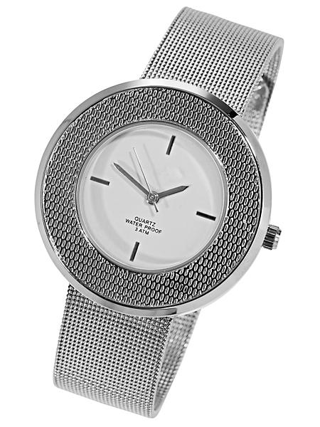 helline - Montre-bracelet femme en métal fine maille, étanche