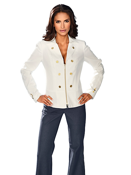 Ashley Brooke - Blazer mode et élégant pour femme, fermeture éclair