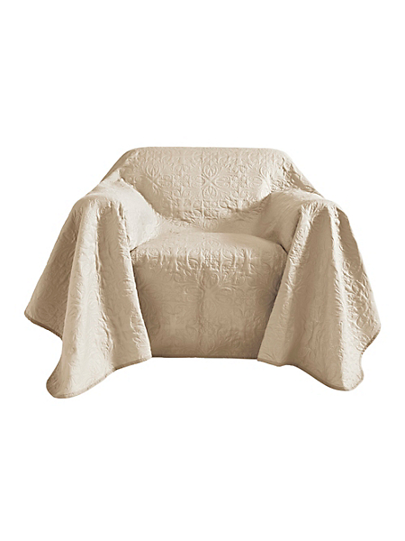 helline home - Jeté de fauteuil en tissu surpiqué, modèle réversible
