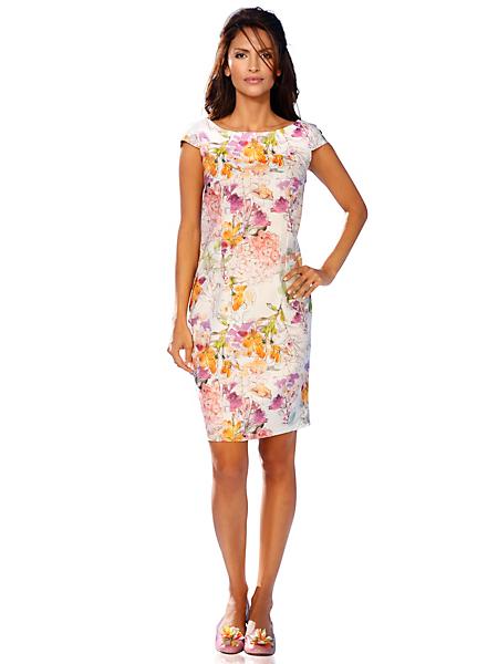 Ashley Brooke - Robe courte imprimée à motif fleuri et col danseuse