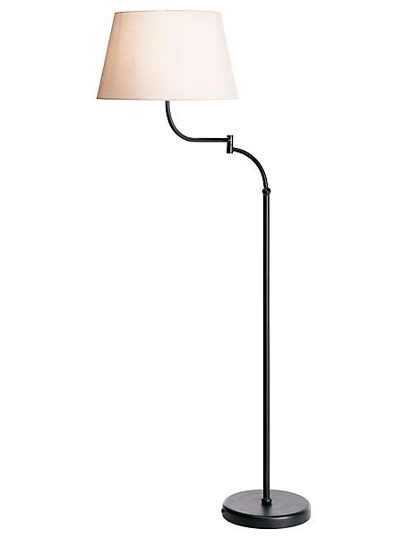 helline home - Lampe à pied en métal verni et abat-jour décalé