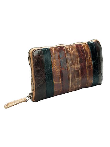 Greenburry - Portemonnaie en cuir de buffle ciré vintage et chic