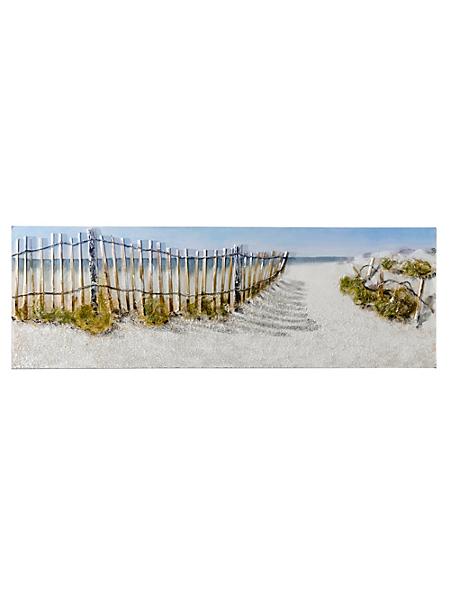 helline home - Tableau peint à la main Entrée sur la plage