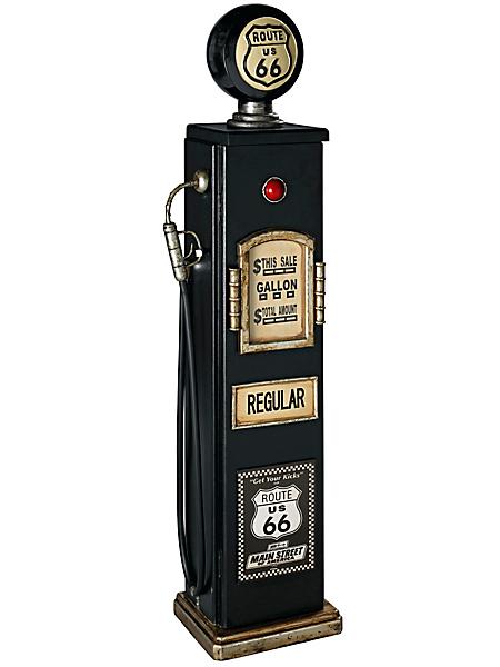 helline home - Etagère originale en forme de pompe à essence rouge