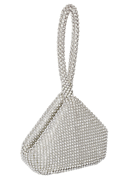 helline - Minaudière raffinée ornée de pierres, forme trinangle