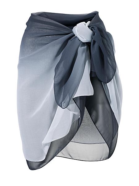helline - Paréo élégant en voile, dégradé de couleurs tendance