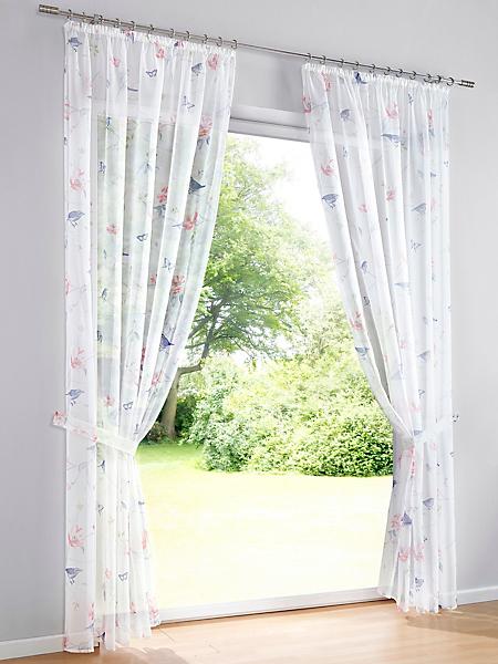 helline home - Rideau, voile semi-transparent avec imprimé nature