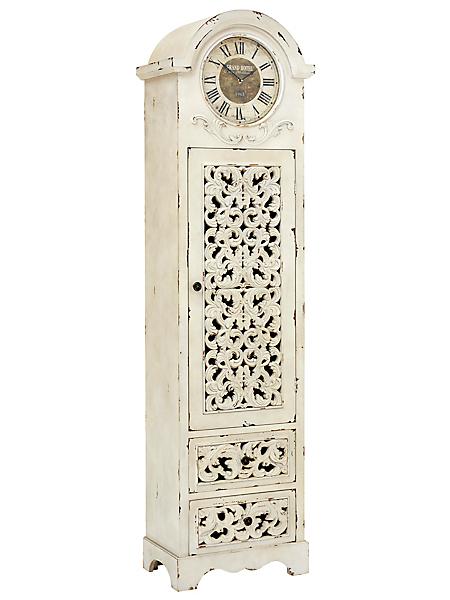 helline home - Meuble rétro en bois sculpté avec horloge