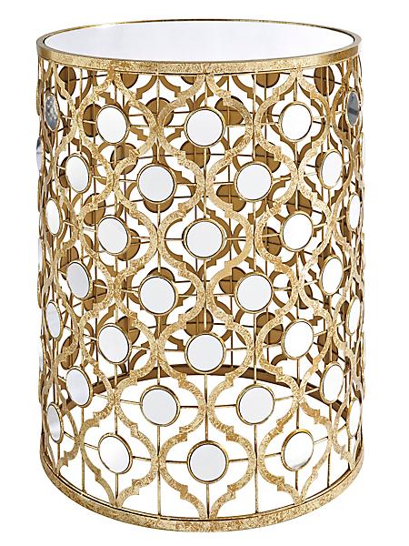 helline home - Desserte luxueuse avec son plateau en verre miroir