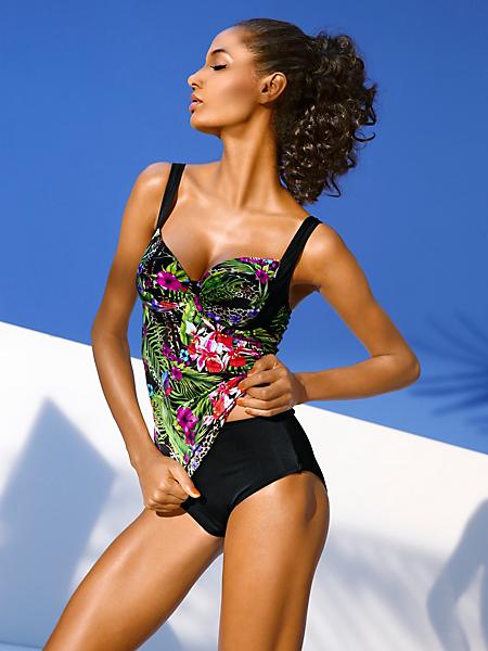 Class International Fx - Tankini tendance à armatures, imprimé fleuri tropical