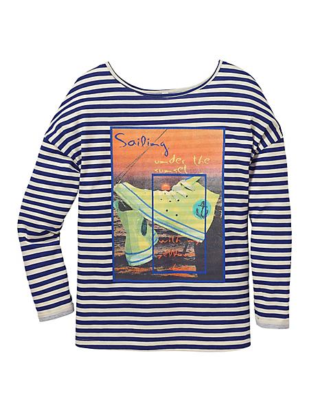 Sheego Casual - sheego Casual : T-shirt à manches 3/4