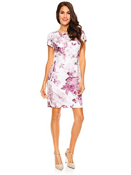 Ashley Brooke Event - Robe courte cintrée manches courtes, motif floral mode