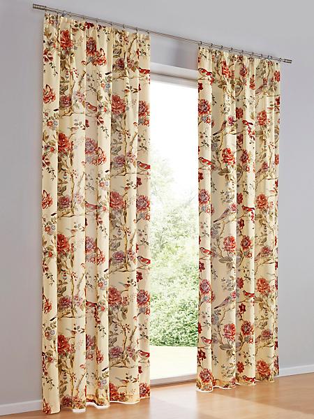 helline home - Rideau opaque 100% coton avec imprimé floral