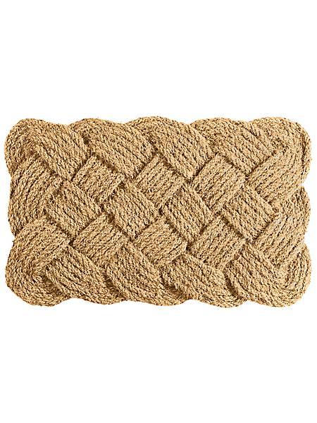 helline home - Paillasson original en corde de coco, motif tressé