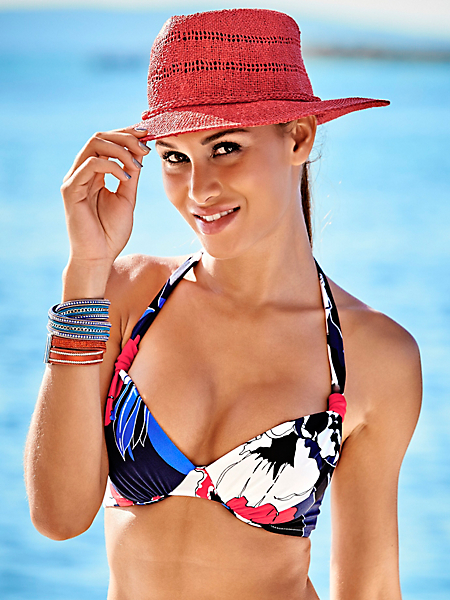helline - Bikini souple à armatures avec imprimé floral tendance