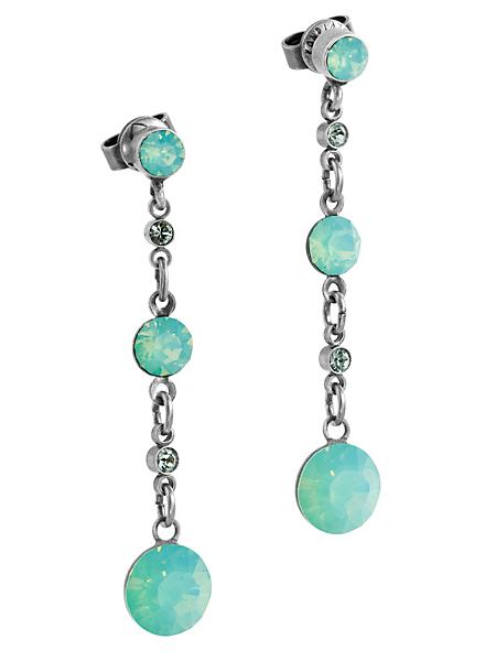 Konplott - Boucles d'oreilles pendantes avec cristaux Swarovski