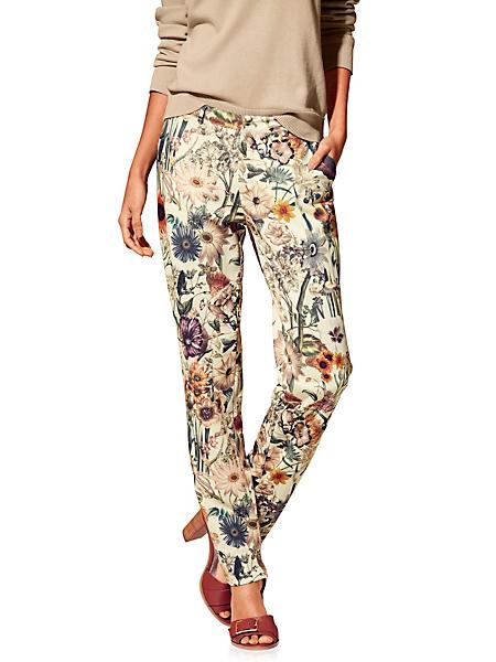 B.C. Best Connections - Pantalon fluide tendance à imprimé floral, coupe droite