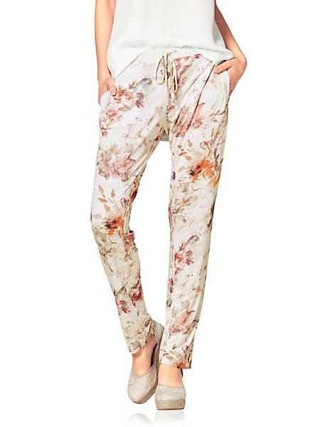 B.C. Best Connections - Pantalon fluide à imprimé floral tendance, coupe femme