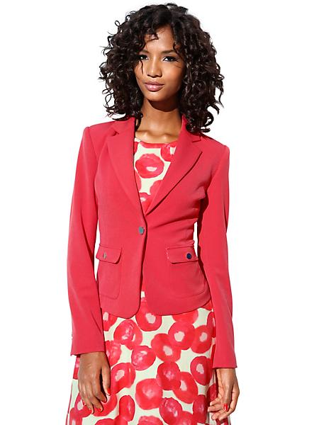 Ashley Brooke - Veste blazer courte corail, classique et élégant
