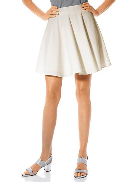 Ashley Brooke - Jupe taille haute évasée, fine fermeture zip arrière