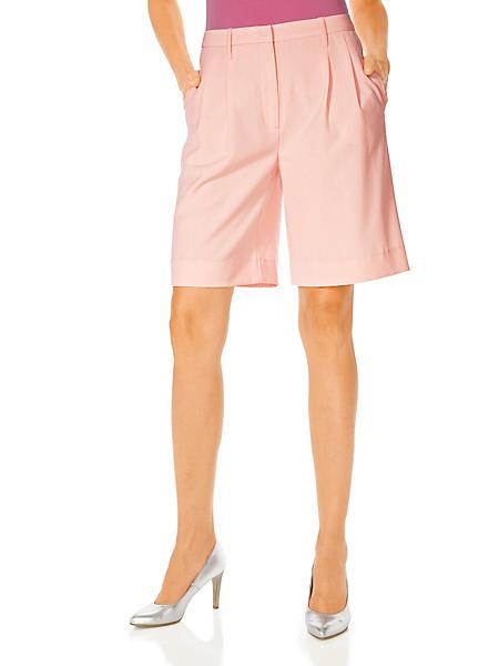 Class International - Bermuda élégant femme à taille plissée et à poches