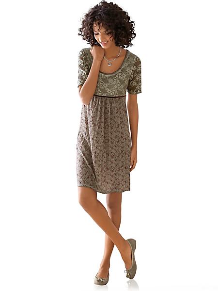 Linea Tesini - Robe en dentelle à manches courtes et encolure ronde
