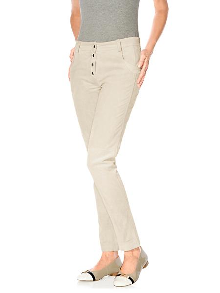 B.C. Best Connections - Pantalon femme en cuir coupe carotte tendance