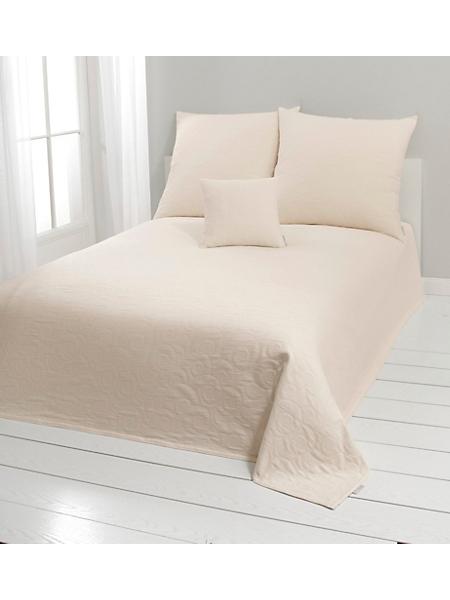 helline home - Couvre-lit uni en coton à motifs spirales tissées