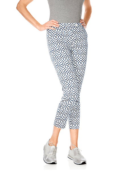 Ashley Brooke - Pantalon femme imprimé à motif moderne, coupe 7/8e