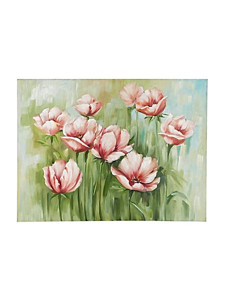 helline home - Tableau peint à la main Fleurs de cosmos roses